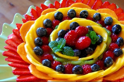Fruit Plate Photography