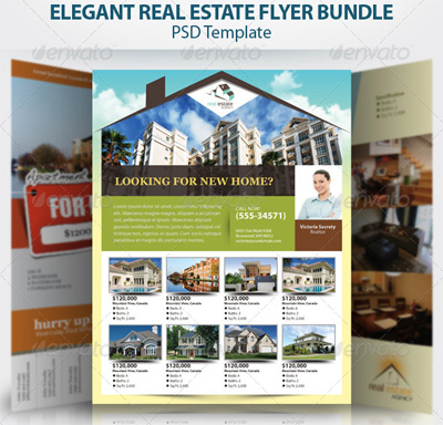 15 real estate flyer templates for marketing campaigns for Property brochure template