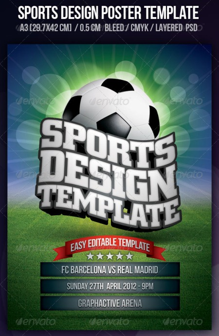 20 Electrifying Print Ready Sports Flyer Templates – Soccer Flyer Template