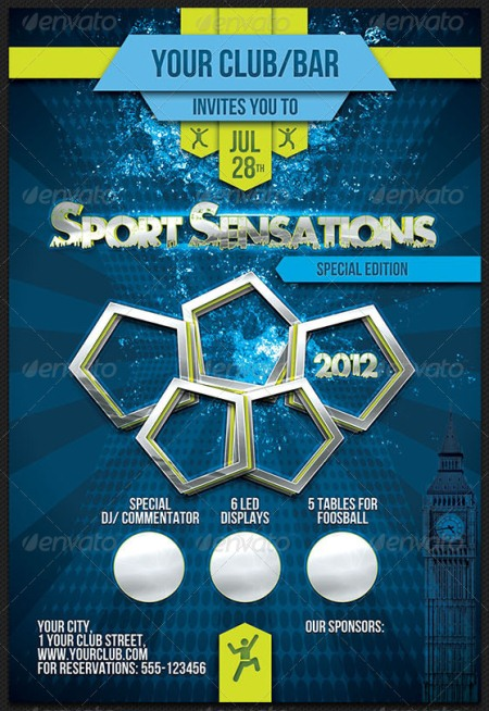 Sport Sensations Flyer Template