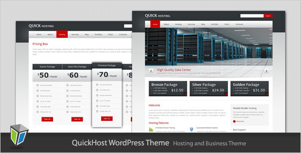 Quick Host - Business and Hosting WordPress Theme