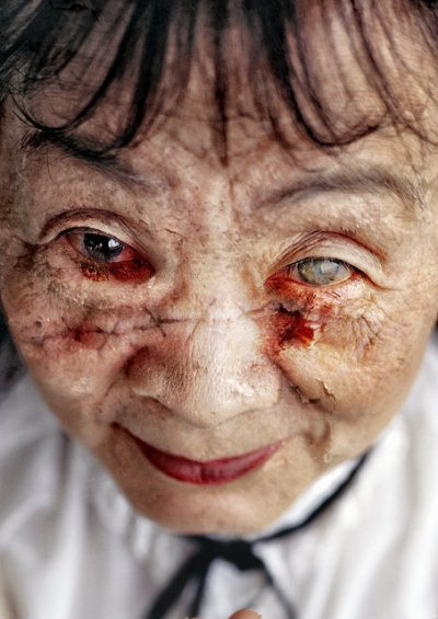 Horror Photo Manipulation: Old Asian Zombie