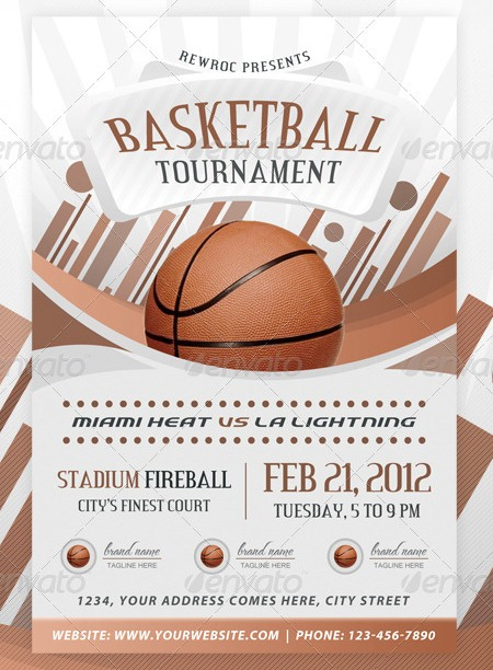 Electrifying Print Ready Sports Flyer Templates