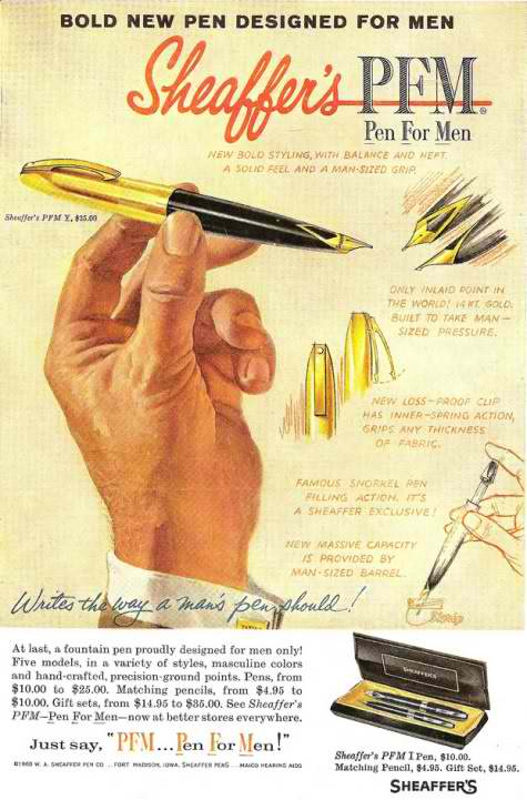 Sheaffer's Pen Vintage Ad