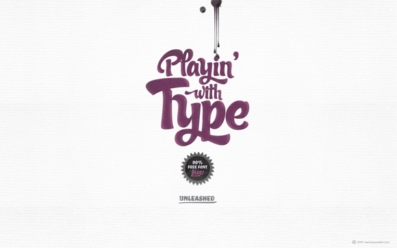 Typographic Wallpaper Designs: Playin' with Type