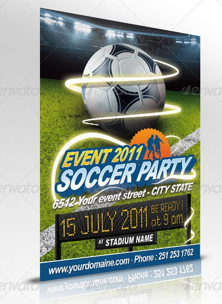 Soccer Event Sports Flyer Templates