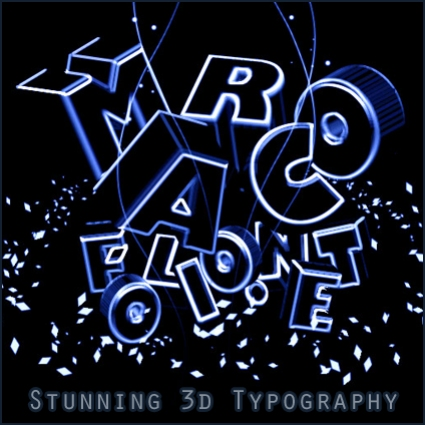 Stunning Neon Light 3D Typography