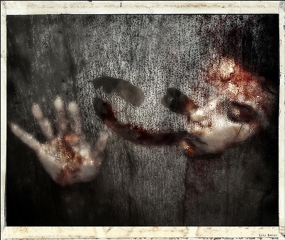 Scary Photo Manipulation: Alone I bleed