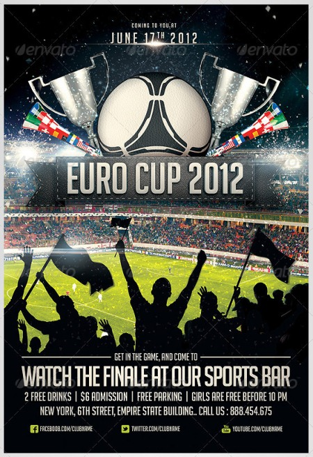 Soccer Flyer Template Soccer Tournament Flyer Event Template Sports