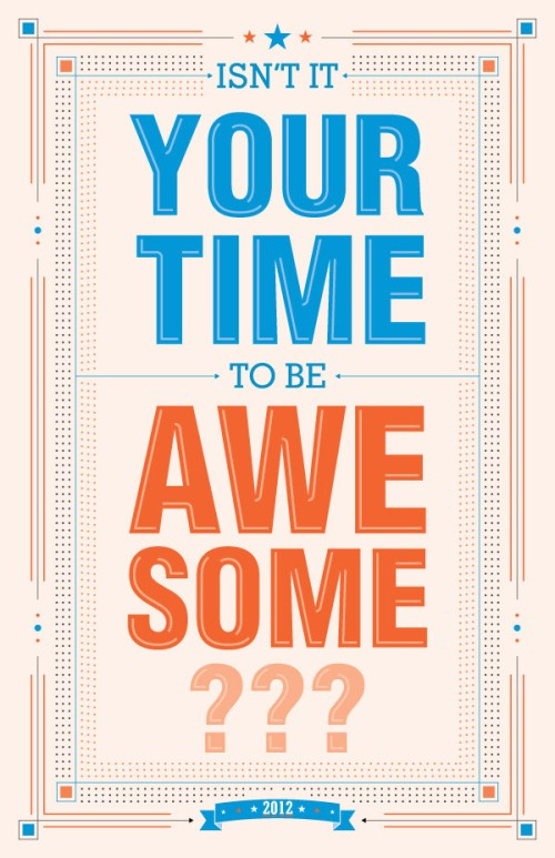 2012 Motivational Typography Posters