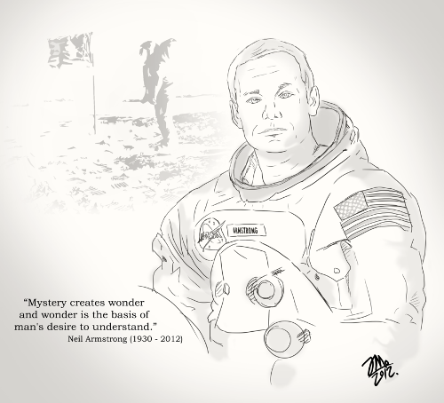 Neil Armstrong Sketch