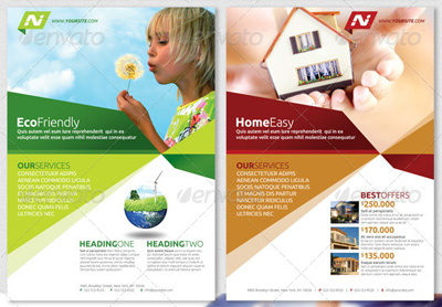 Advertising pamphlets templates digital marketing flyer psd.