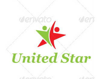 United Star Logo Template