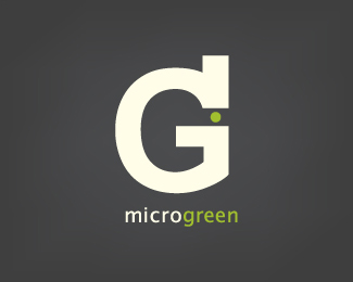 Microgreen Typography Logo Design