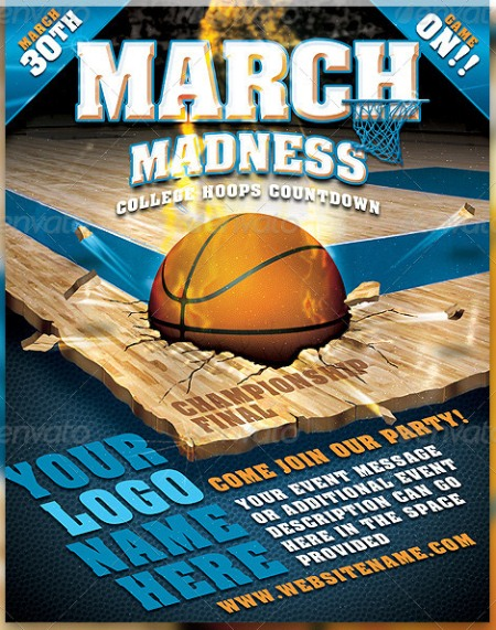 March Madness Championship Flyer