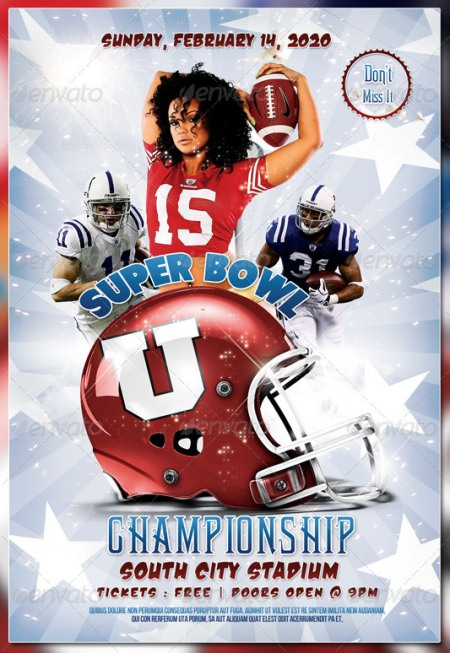 Super Bowl Championship Flyer