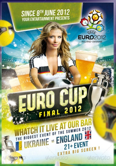 Euro Cup 2012 - Flyer PSD Template