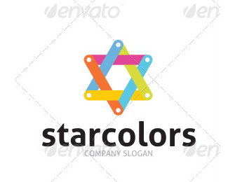 Star Colors Logo Template