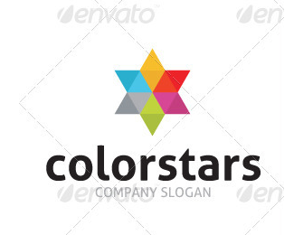 Color Stars Logo Template