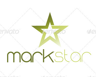 Mark Star Logo Template