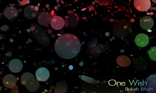 One Wish Bokeh Brush