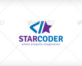 Star Coder Logo Template