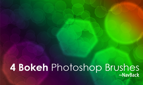 4 Bokeh Photoshop Brushes