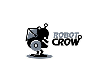 Robot Crow Logo Design