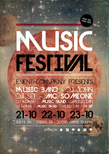 15 Provoking Examples Of Lovely Music Flyer Template