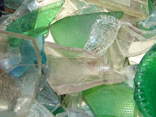 Broken Sea Glass Macro Texture