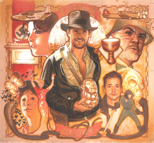 Indiana Jones Puzzle Card