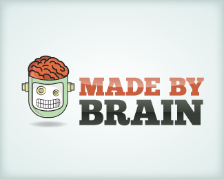 Made By Brain Logo Design