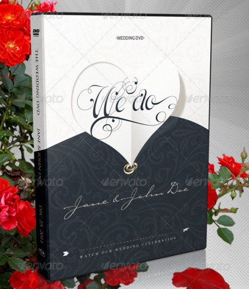 Elegant Wedding DVD Covers and Disc Label