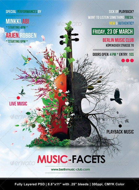 Provoking Examples Of Lovely Music Flyer Template