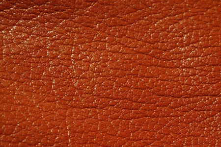 Orange Leather Close-Up