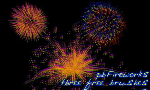 Fireworks Photoshop Brush Set
