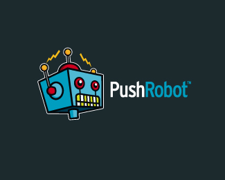 PushRobot Logo Design