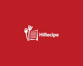 HiRecipe Logo Design