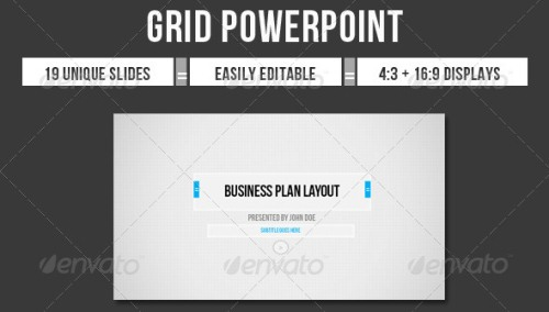 Grid Business PowerPoint Presentation Templates