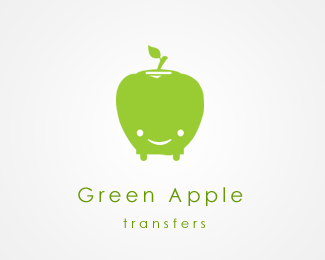 Green Apple Transfers Logo Design