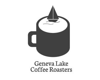 Geneva Lake Coffee Roasters Logo Design