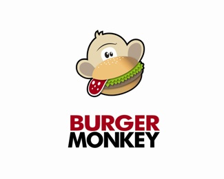 Monkey Burger Logo Design