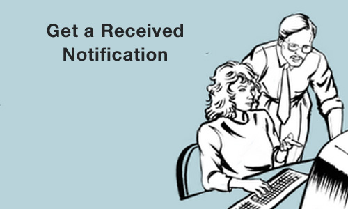 Get a Received Notification