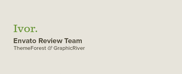 Ivor - ThemeForest and GraphicRiver Author