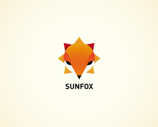 Sun Fox Logo Design