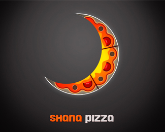 Shana Pizza Logo Design