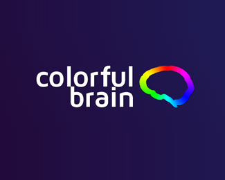 Colorful Brain Logo Design