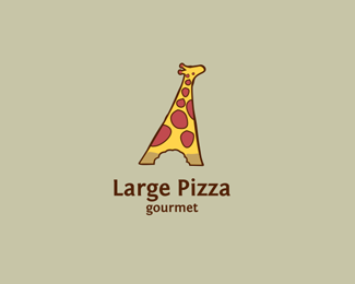 Large Pizza Logo Design