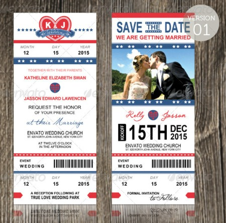 Wedding Invitation - Sports Pass