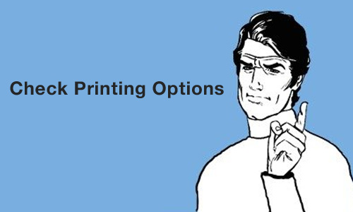 Check Printing Options